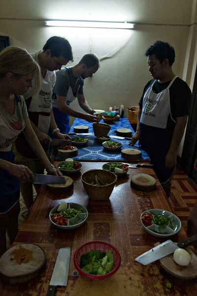 Baan Thai Cookery School in action/