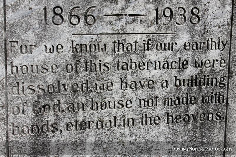 Epitaph (Fairplaines Cemetery, Grand Rapids MI)