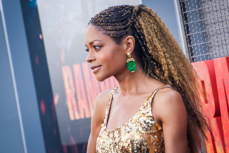 LOS ANGELES, CA - APRIL 04: Naomie Harris arrives at the Premiere Of Warner Bros. Pictures' 'Rampage' at Microsoft Theater on Wednesday April 4, 2018 in Los Angeles, California. (Photo by Tom Sorensen/Moovieboy Pictures)