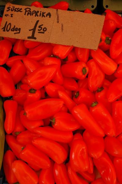Pile of Peppers at Naschmarkt - Vienna, Austria
