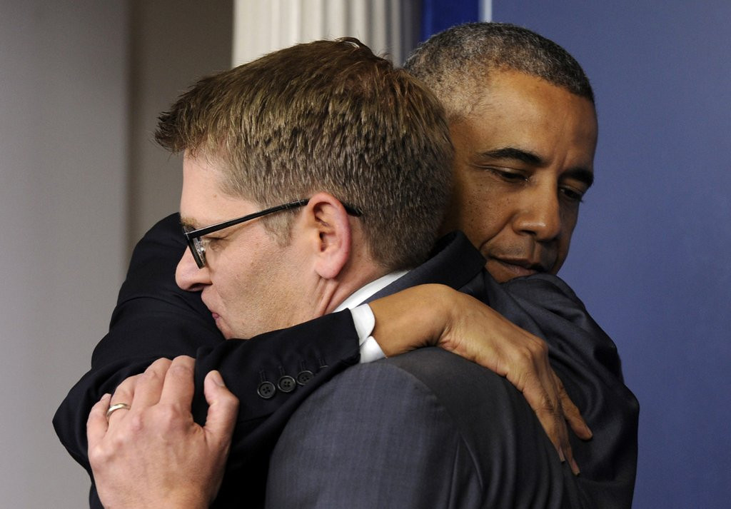 ". 7. JAY CARNEY <p>Leaving White House so he can begin prevaricating in the private sector. (2) <p><b><a href=\'http://thehill.com/blogs/blog-briefing-room/news/207872-carney-blames-tv-for-combative-briefings\' target=""_blank\""> LINK </a></b> <p>    (AP Photo/Susan Walsh)"