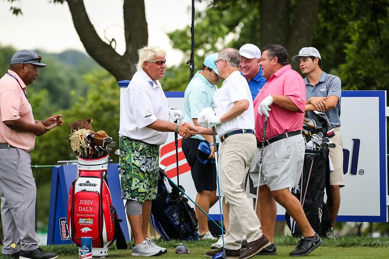 John Daly, Bruce Drake and Bill Farrish Jr. at the Pro-Am 7.17.19