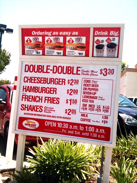 In N Out Burger Menu - (c) BraveHeart https://flic.kr/p/cvJkP3