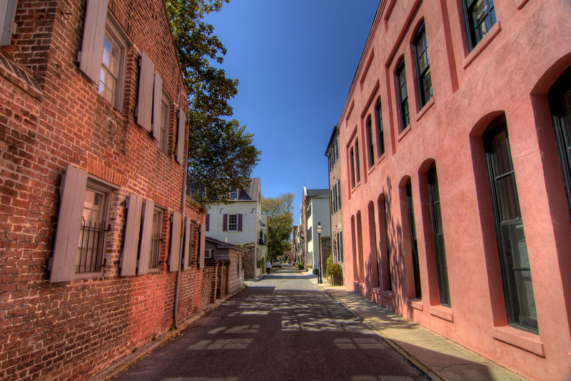 During the 1700's Elliot Street was a busy commercial thoroughfare which evolved into taverns and brothels by the 1920's, in downtown Charleston, SC on Saturday, March 9, 2013. Copyright 2013 Jason Barnette