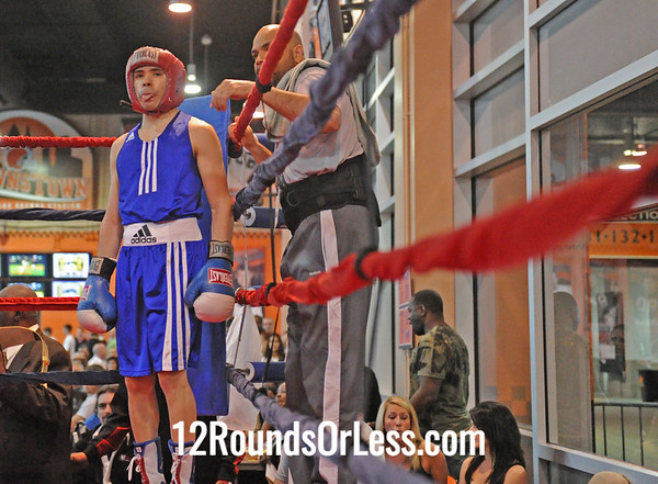 Anthony Tulley (Good Shepherd) vs Antonio Nieves (Old School Boxing Club)  123 Pound Open Division  Bout # 1