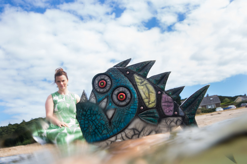 Maeve Murphy, Operations Manager Cork Craft and Design with a Ceramic Fish by Artist Julian Smith on display for the launch of Cork Craft Month 2018,   Pic Darragh Kane