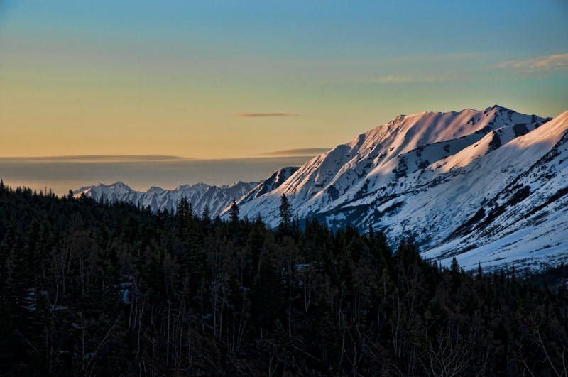Close to sunset near Exit Glacier.