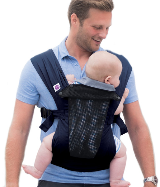 Izmi_Baby_Carrier_Breeze_Midnight_Blue_Lifestyle_Front_Carry_Dad_With_Baby.jpg