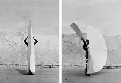Rebecca Horn White body fan, 1972