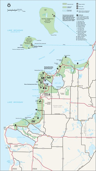 National Seashore, Lakeshore, & River Maps