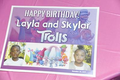Layla & Skylar Birthday 2017