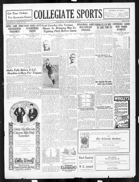 The Southern California Trojan, Vol. 16, No. 27, November 26, 1924