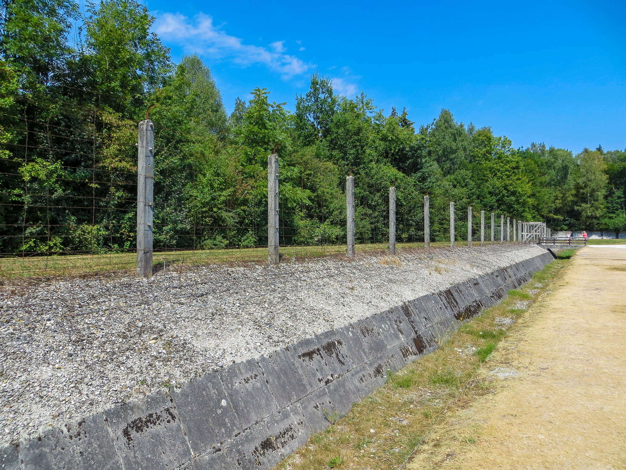 dachau day trip from munich: the barbed wire is disturbing