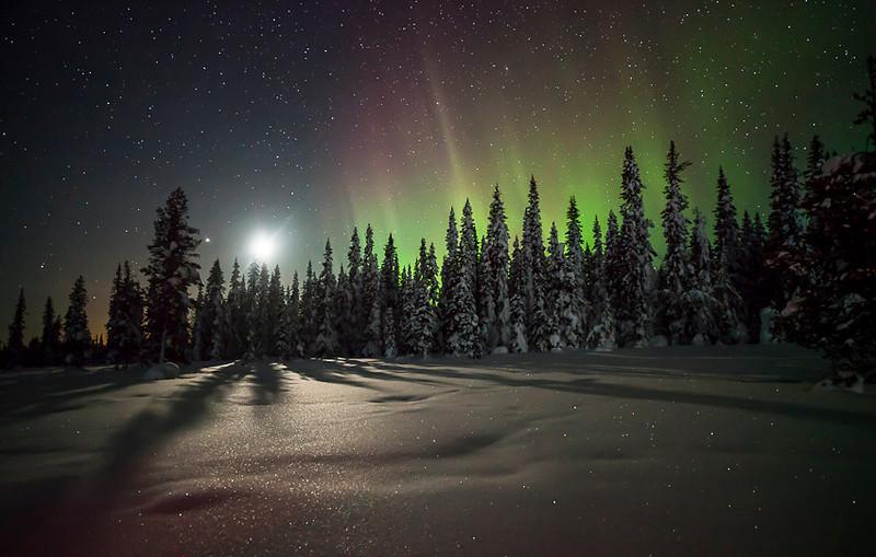 Aurora & Moon