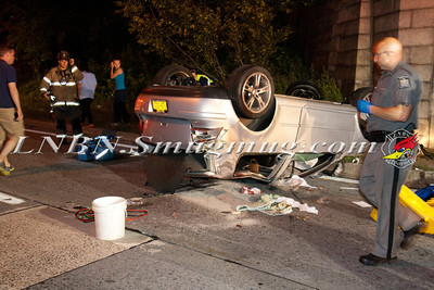 Bay Shore F.D. Overturned Auto w/ Partial Ejection & Medevac N/B Sagitkos Pkwy IVO Southern State Pkwy 7-12-13