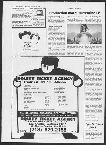 Daily Trojan, Vol. 91, No. 22, October 01, 1981