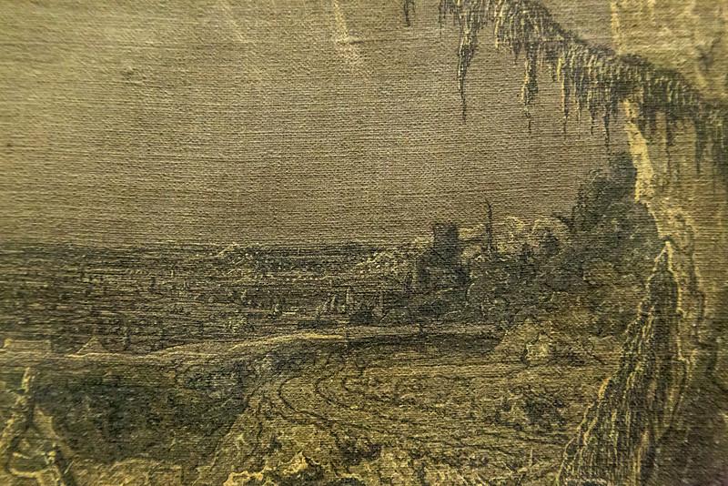 Hercules Seghers: Die Landschaft mit dem Fichtenzweig, Detail 3 [um 1620/30, Kupferstichkabinett Berlin]