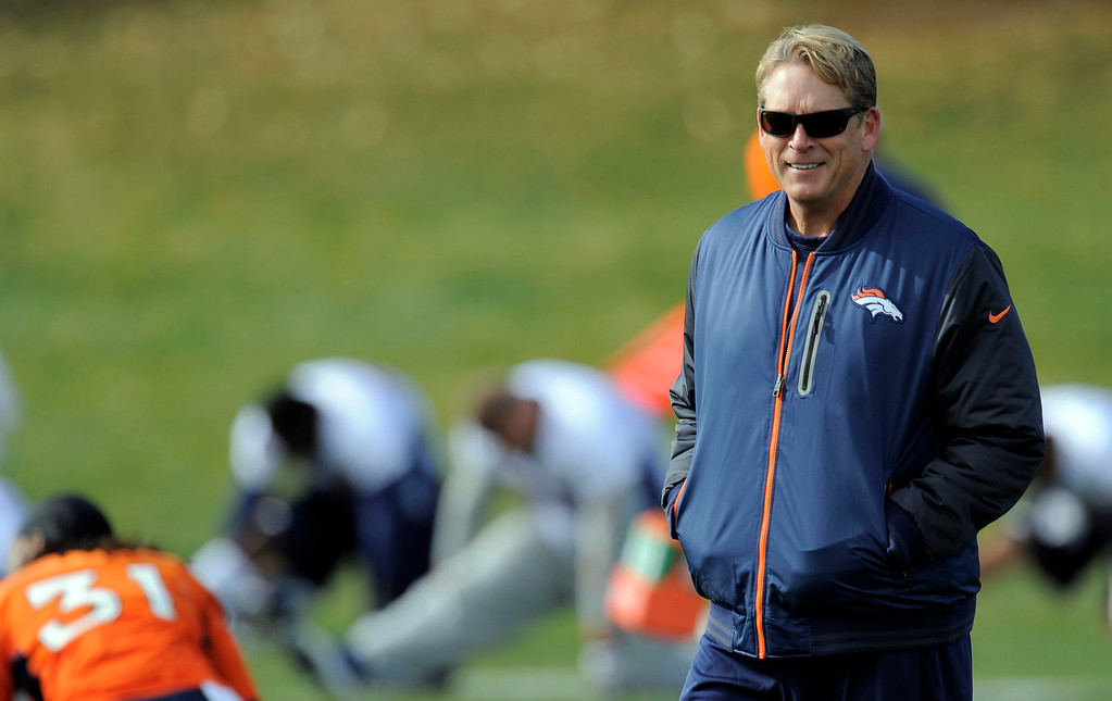 . Denver Broncos defensive coordinator Jack Del Rio smiles during practice November 4, 2013 at Dove Valley. The Denver Broncos on Monday named Defensive Coordinator Jack Del Rio as the team�s interim head coach, Executive Vice President of Football Operations John Elway announced.  (Photo by John Leyba/The Denver Post)