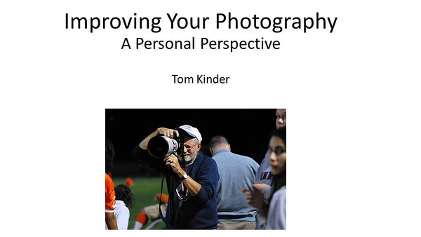 Improving Your Photography - A Talk