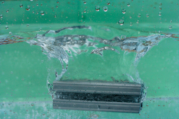 Splashing robotics parts