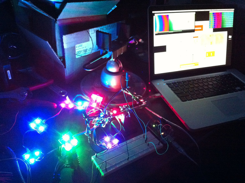 Testing PixelController running PD on a MacBook Pro