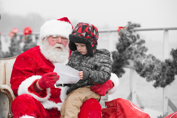 Santa in St Clair Boardwalk Dec 9