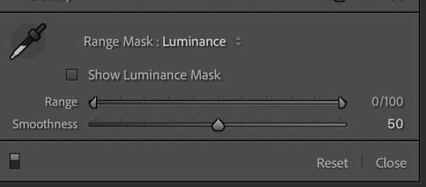 Initial Settins for the Luminance Mask