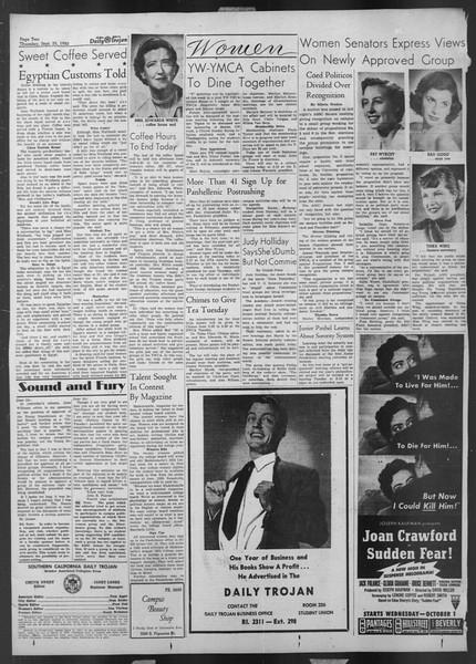 Daily Trojan, Vol. 44, No. 9, September 25, 1952