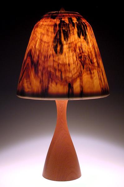 "Mahogany ""Pilsner' Base with Traditional Shaped Shade"