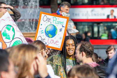 Fridays For Future: London Climate Strike in the rain