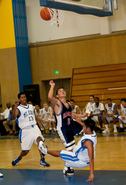 RCS Boys' Varsity Basketball vs Mt. Eden - Dec 17 2009