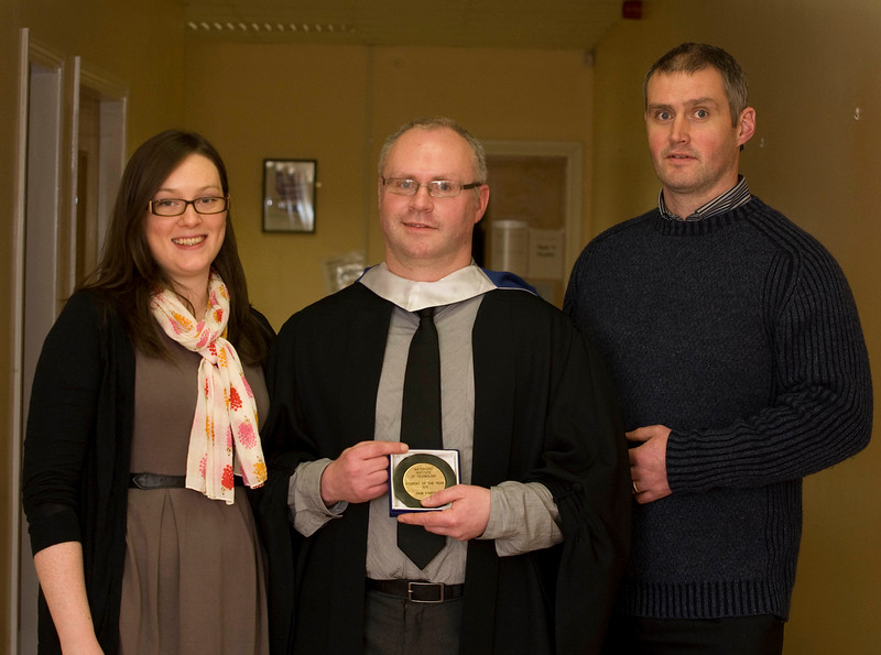 5/1/2012. News. Free to use image. Waterford Institute of Technology (WIT) conferring ceremony. Pictured is John Power, Campile, Co. Wexford who was HETAC Student of the year 2011 and graduated with a BSc in Biotechnology . Also pictured are Catherine Murphy and Kieran Power. Photo Patrick Browne