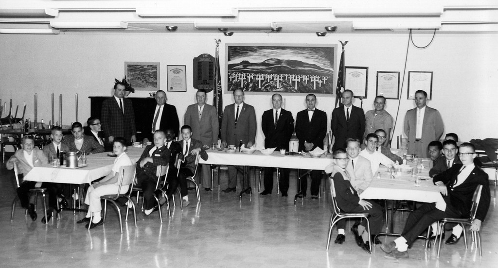 . The 1963 Painesville American League All-Stars are honored at the Painesville VFW after winning the Little League state title that year.  (Courtesy Ron Lombardo)
