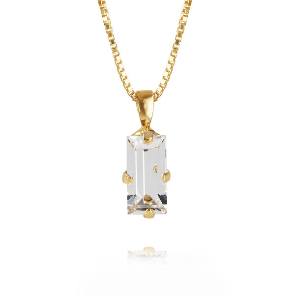 Baguette necklace / Crystal Gold