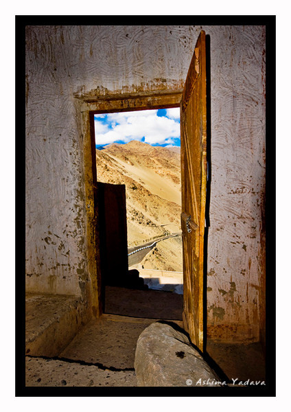 """""""The Door to Infinity ... """"<br /> <br /> Thiksey Monastery. Ladakh."""