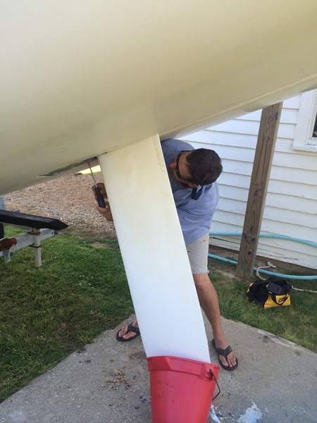 5/23 boat maintenance on a Front Runner w/Matt Braun