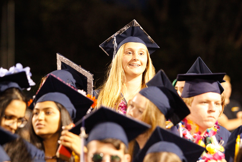 Pleasant Valley High School commencement ceremony for the class of 2017 Tuesday June 7, 2017 in Chico, California. (Emily Bertolino -- Enterprise-Record)