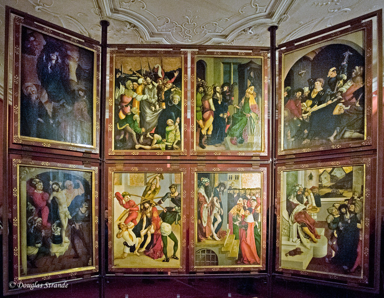 Panels depicting religious scenes at Melk Abbey