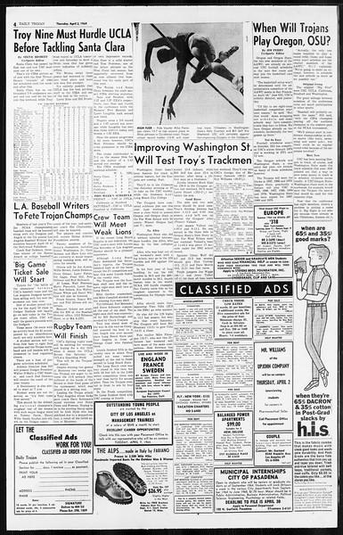 Daily Trojan, Vol. 55, No. 90, April 02, 1964