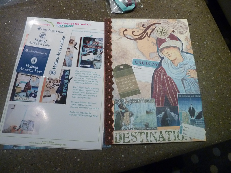 I made a Bon Voyage journal!
