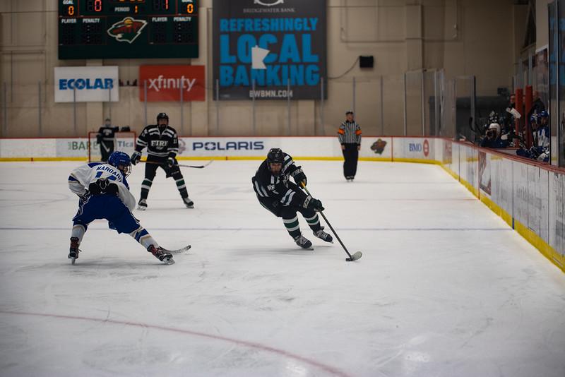 Holy Family Boys Varsity Hockey vs. Academy of Holy Angels, 12/21/19: Trey Fechko '22 (5)