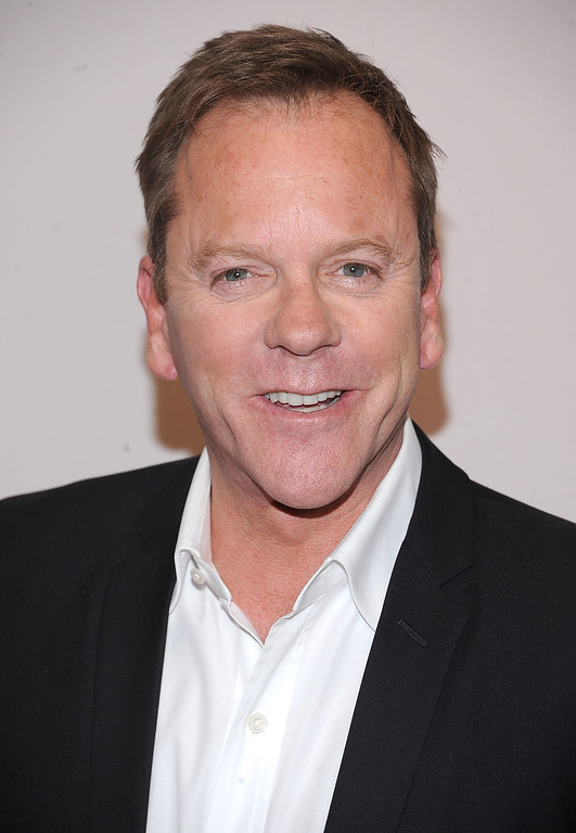 . Kiefer Sutherland attends the 2016 ABC Upfront at David Geffen Hall on May 17, 2016 in New York City.  (Photo by Brad Barket/Getty Images)