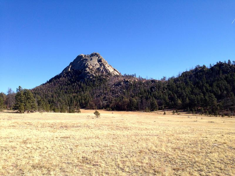 Greyrock, looking across the meadow