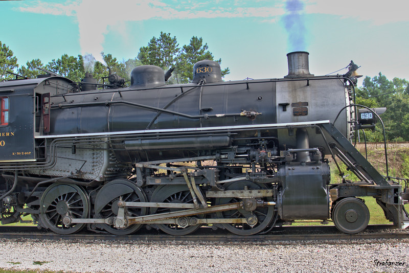 Tennessee Valley Railroad Museum The Southern Valve Gear of 2-8-0 #630 built for the Southern  railway in 1904 at  Grand Junction. Chattanooga, TN, 07/13/2019 This work is licensed under a Creative Commons Attribution- NonCommercial 4.0 International License