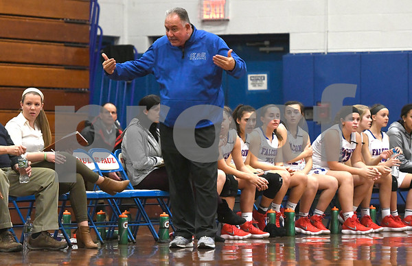 1/3/2017 Mike Orazzi | Staff St. Paul's Joe Mone during Wednesday night's girls basketball game with Naugatuck in Bristol.