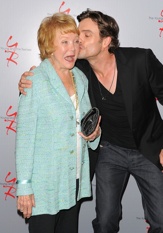 ". Co-creator Lee Phillip Bell and actor Daniel Goddard attend the 40 years of ""The Young and The Restless\"" celebration presented by SAG-AFTRA at SAG-AFTRA on June 4, 2013 in Los Angeles, California.  (Photo by Angela Weiss/Getty Images)"