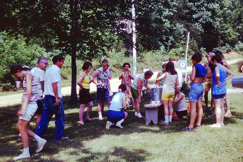 1969 - Ice water at Camp.jpg