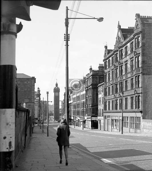 High St. below Ingram St.  29 April 1973