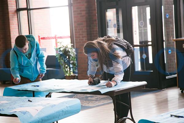 Banner Signing (Matt and Kelsey)