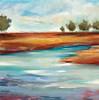 Smooth Landscape-Hibberd, 40x40 on canvas